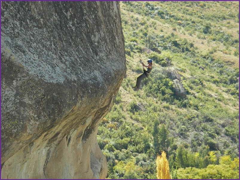 abseiling with Outrageous Adventures overlooking Clarens